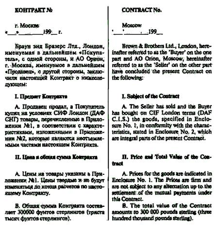 Образец договора поставки товара, заключаемый между юридическими лицами.