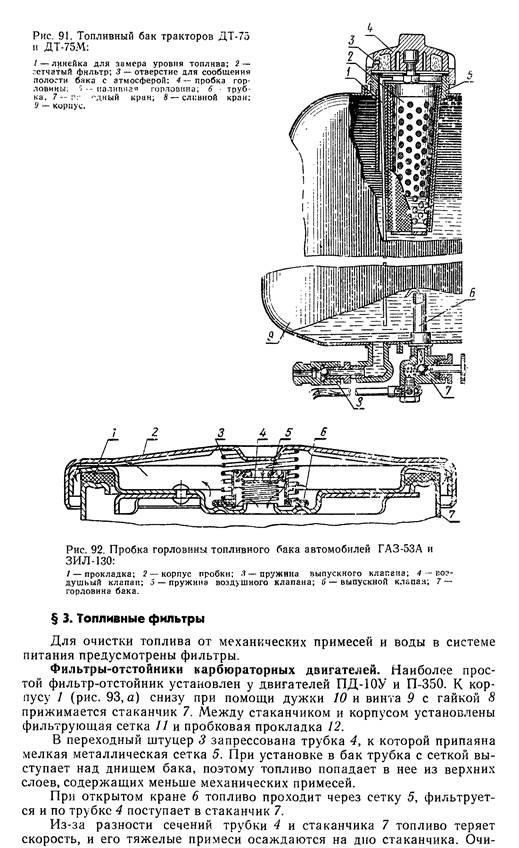 Схема топливного бака т 150