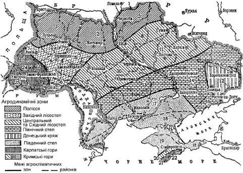 Агроклыматичне районування сыльськоггосподарських культур в Федоровке,Кобре,Акбулаке