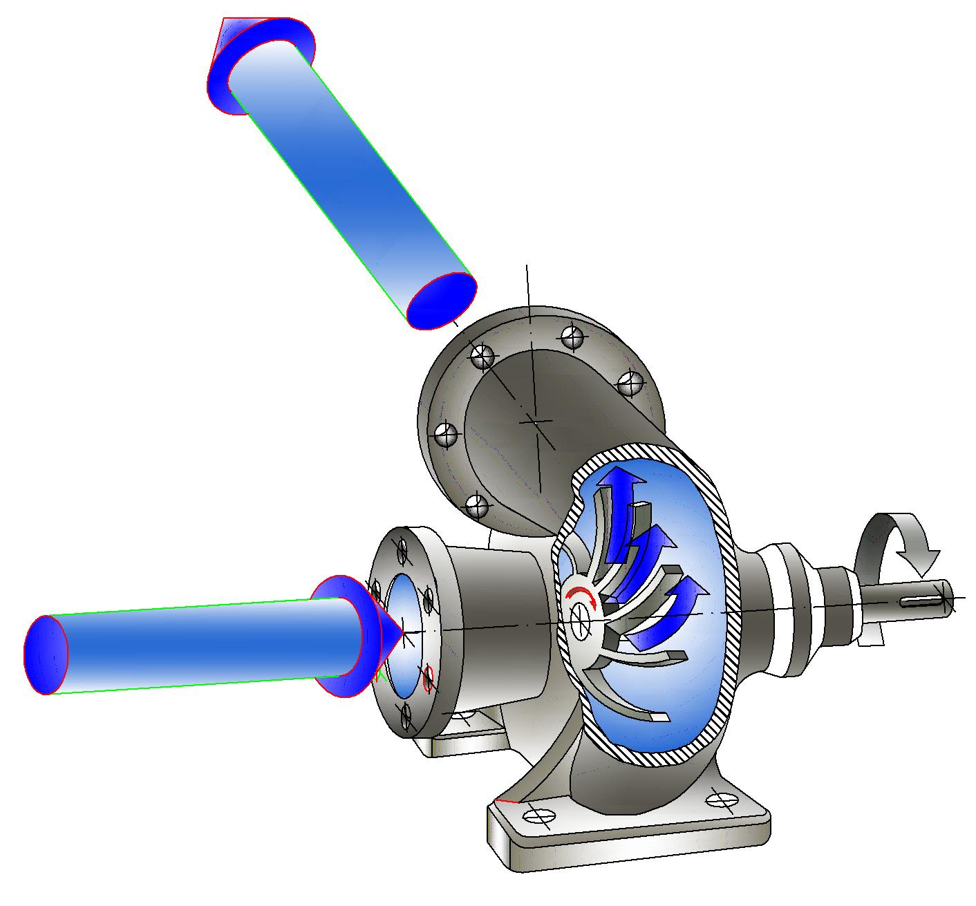 как работает центробежный лопастной вакуум-насос