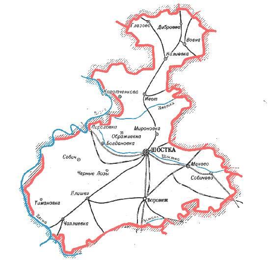 Карта Конотопского Района Подробная