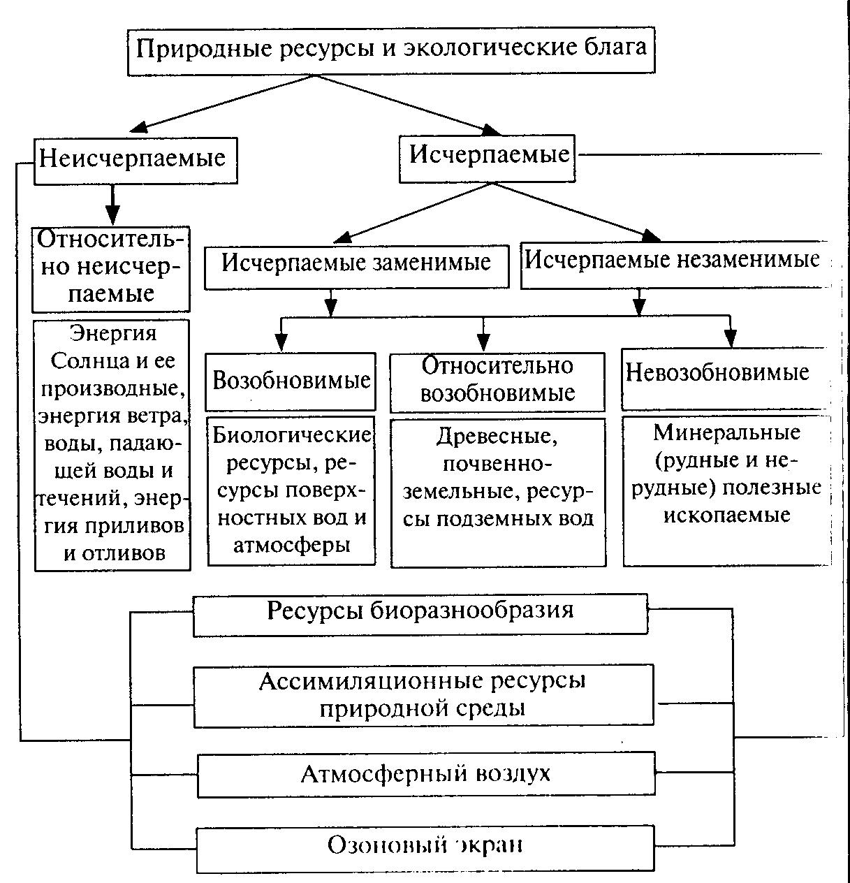 Схема кадастры природных ресурсов схема
