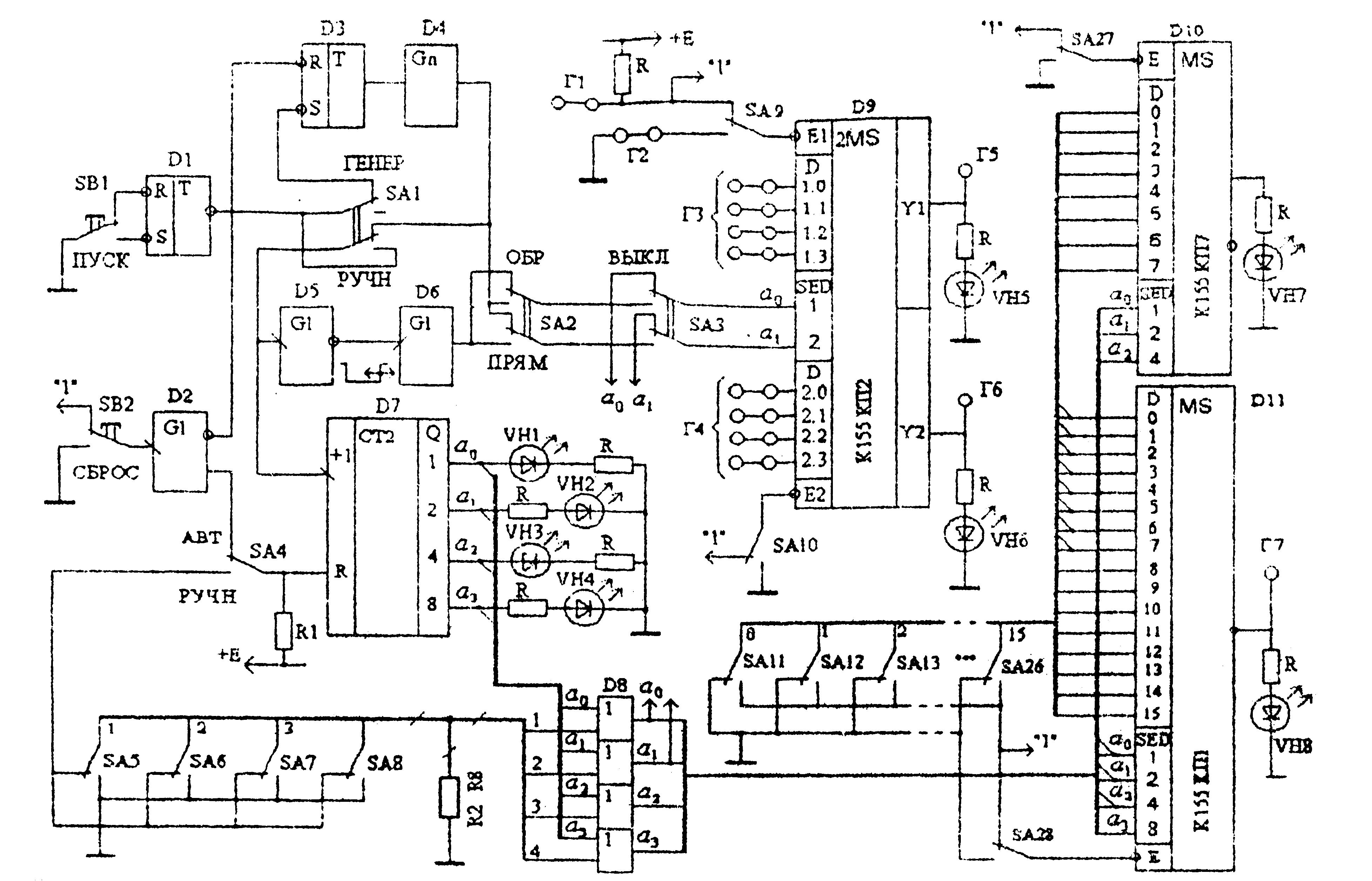 принципова схема мультіплексора
