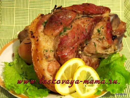 Как вкусно приготовить рульку свиную в рукаве пошаговый рецепт