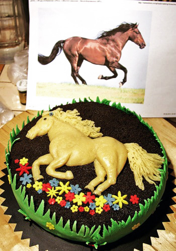 Сделать торт в виде лошади