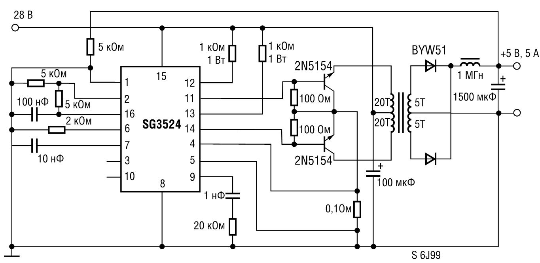 Схемы включения sg3524