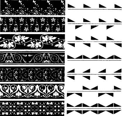 Схемы орнаментов в композиции