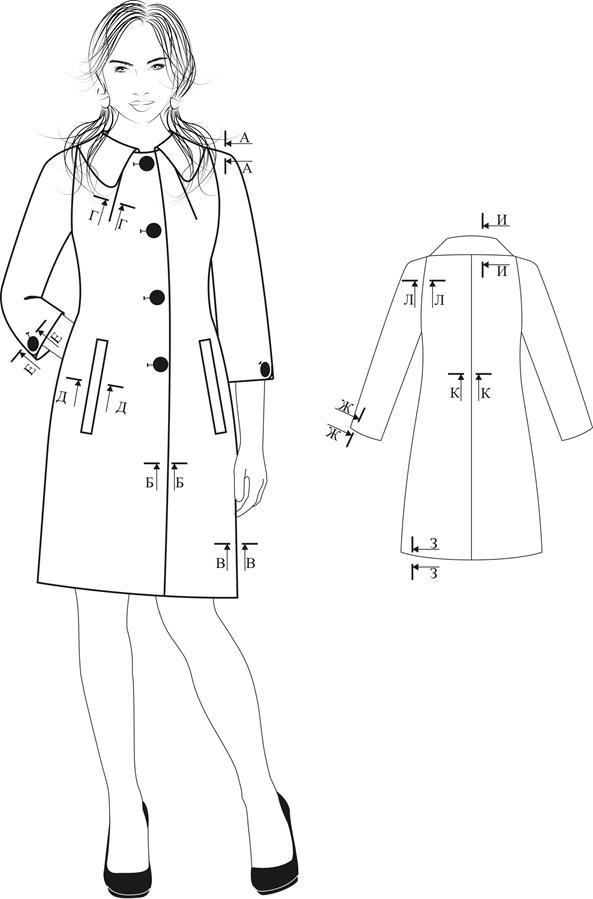 Женское летнее пальто схемы