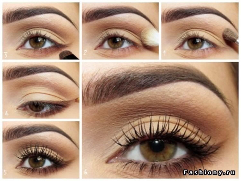 Как накрасить тенями коричневыми глаза
