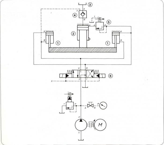 Пресс п6328б схема гидравлическая