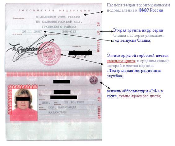 эта Признаки действительности паспорта гражданина рф сомневался, что