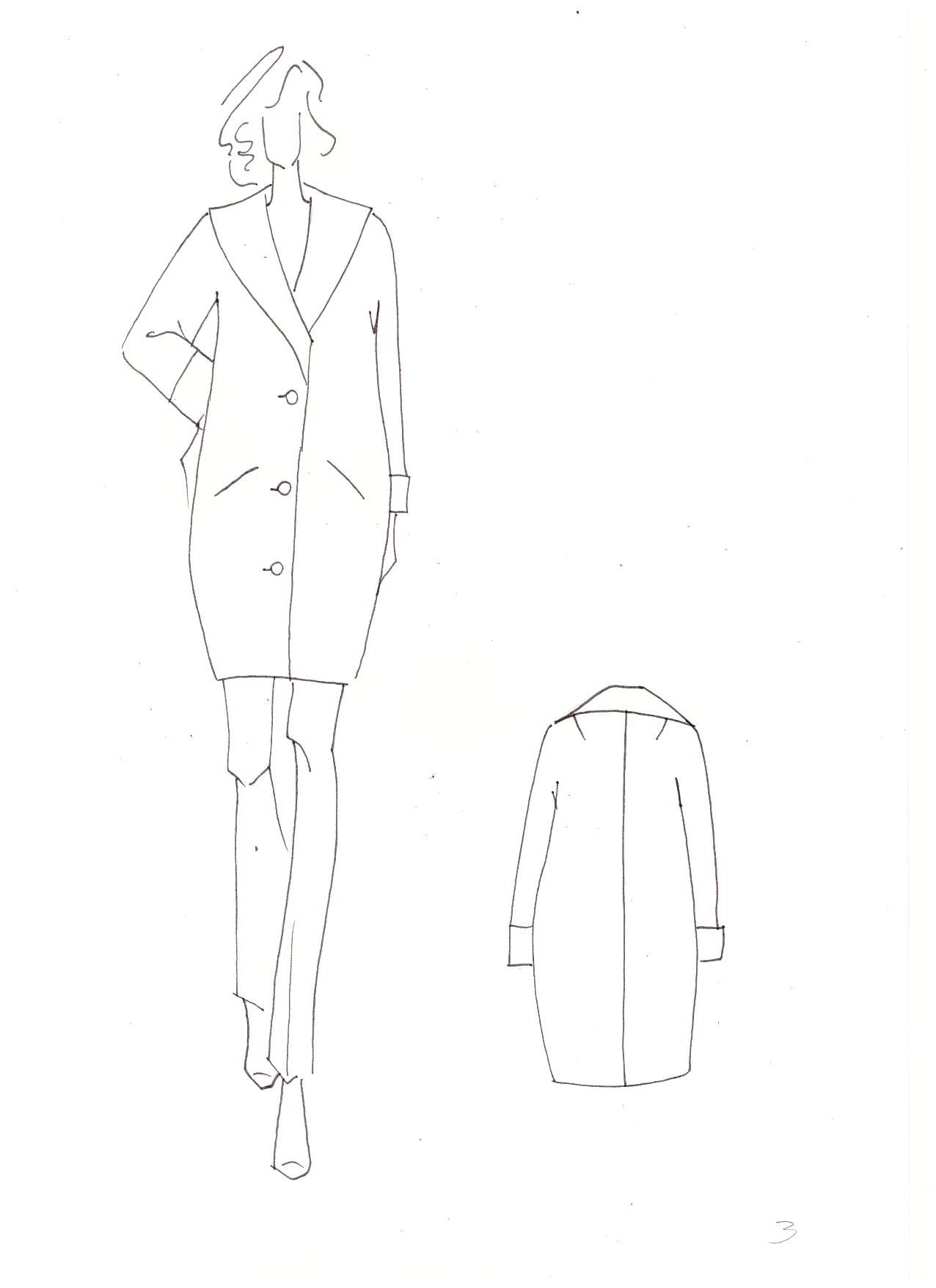 Курсовая работа по конструированию женского пальто 3313