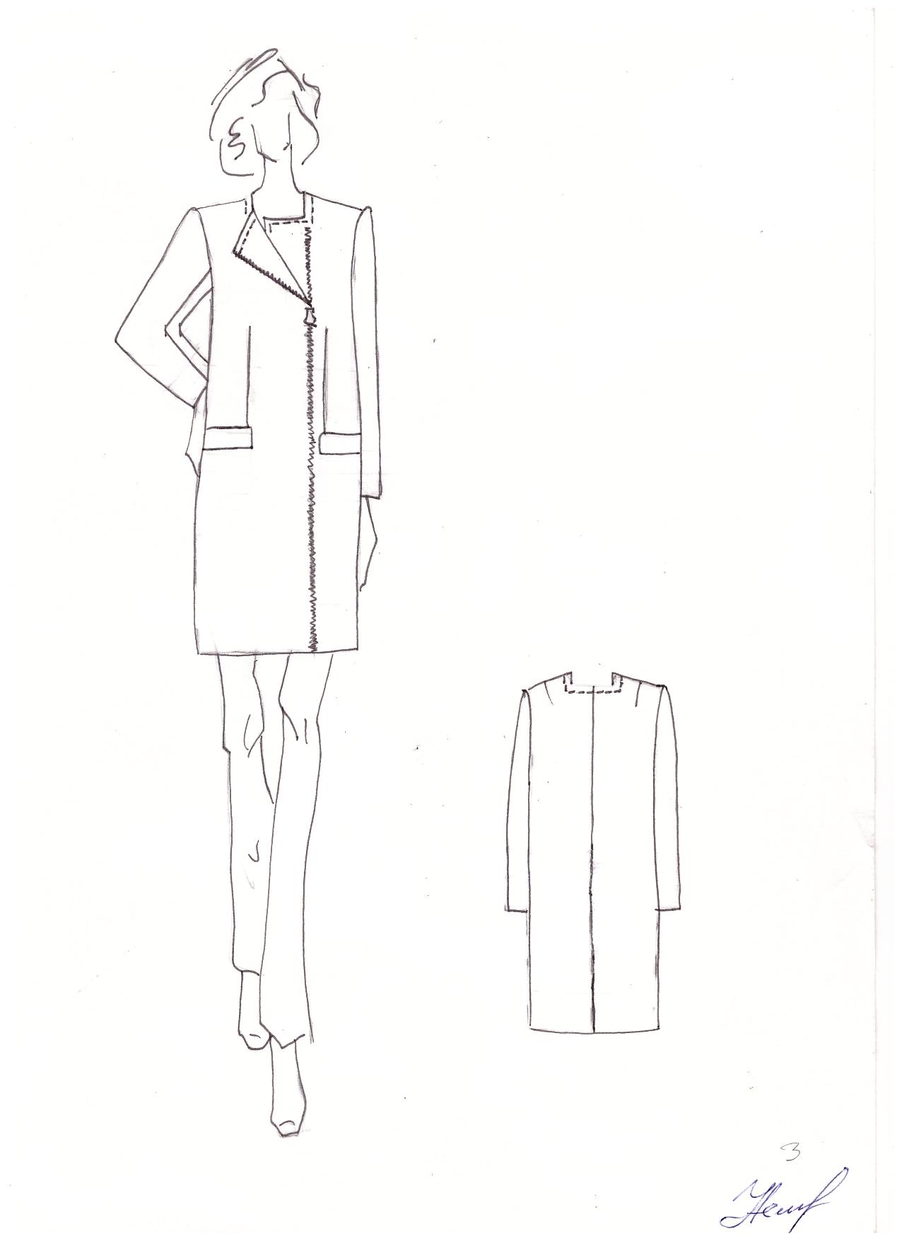 Курсовая работа по конструированию женского пальто 2868