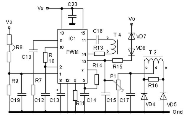 Switch Mode Power Supply Circuit SG3525 IR2110 900W SMPS smps sg3524 shutdown current sense.