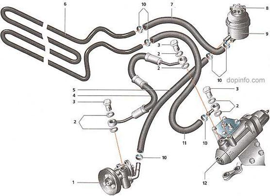 Схема гидроусилителя руля 2123