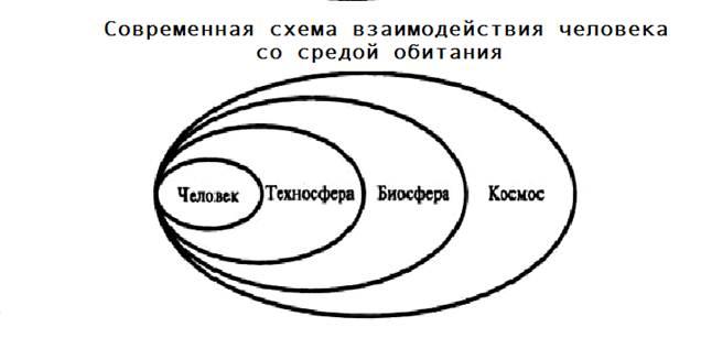 Рисунок схема взаимодействия человека и природы6