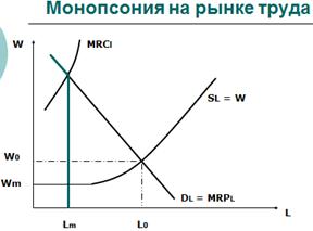 Монополия и монопсония на рынке труда.