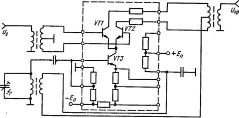 Преобразователь частоты на полевых транзисторах с совмещенным гетеродином