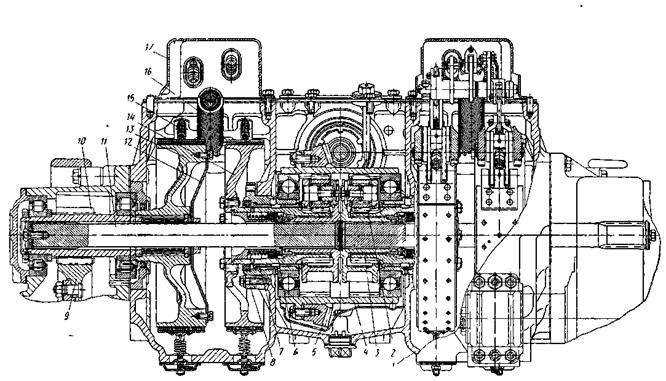 механизм поворота трактора