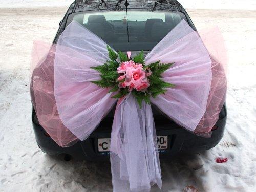 Как сделать свадебные банты на машины
