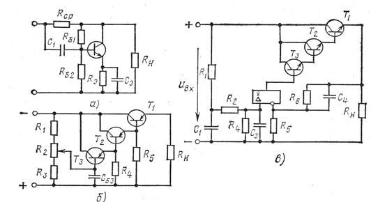 транзисторного фильтра на
