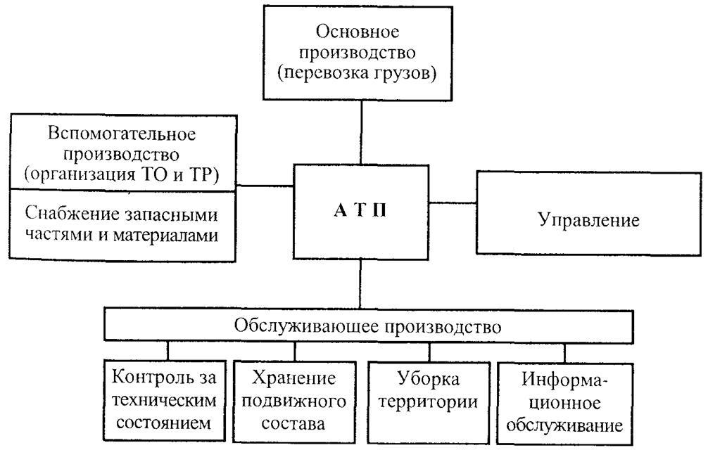 Организационная структура автотранспортного предприятия реферат 5762