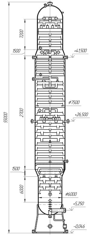 Отпарная колонна схема