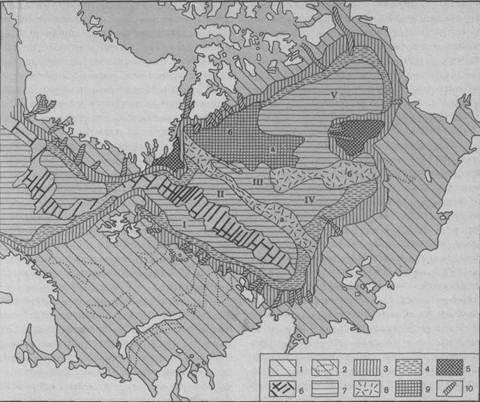 схема дна Северного
