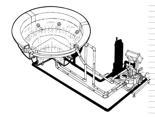 Рис. Схема подключения джакузи