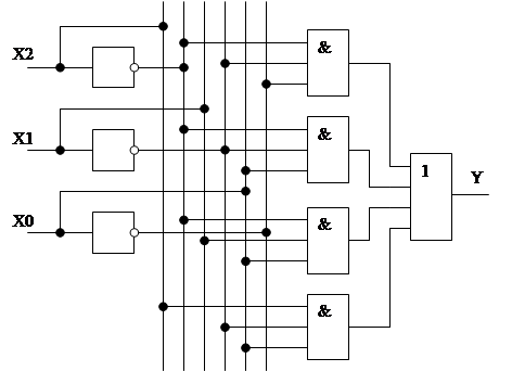 схему логического