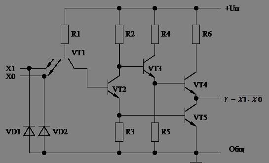 элемента ТТЛ 2И-НЕ
