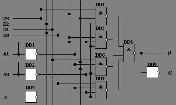 Схема мультиплексора на
