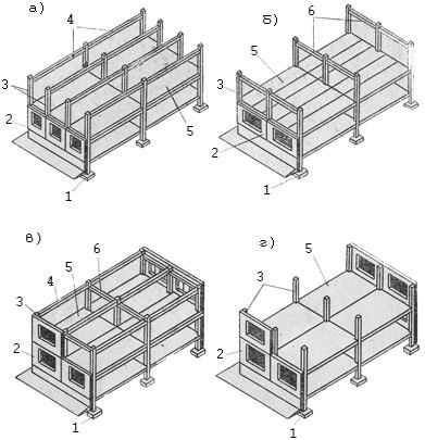 Конструктивные схемы каркасных