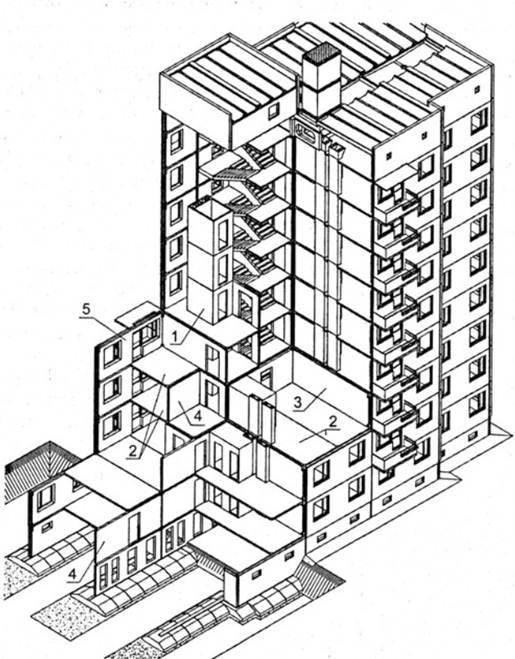 Панельные столбы вертикальных