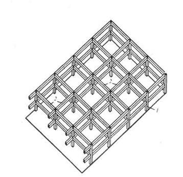 Схема здания с рамной