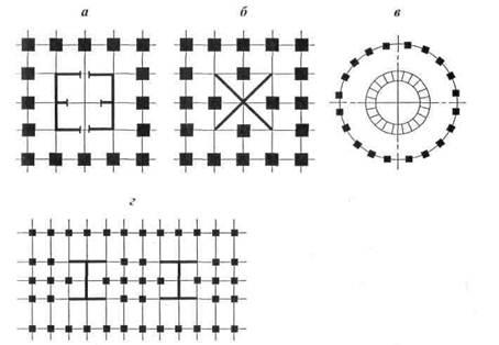Схема зданий со связевыми