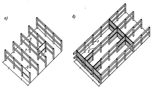Схема зданий с рамно-связевыми
