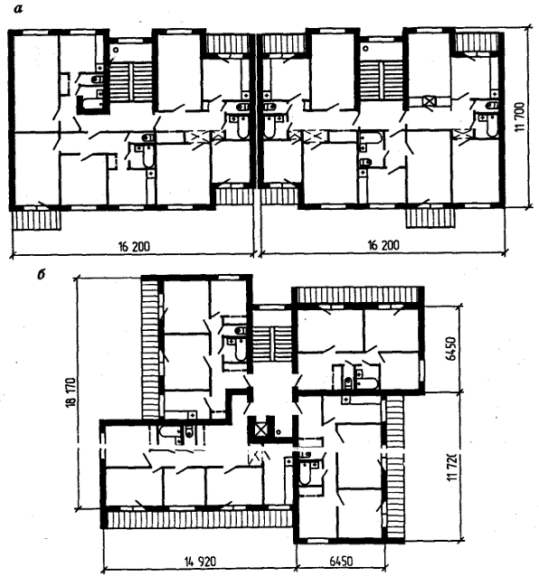 Планировочные схемы домов: а