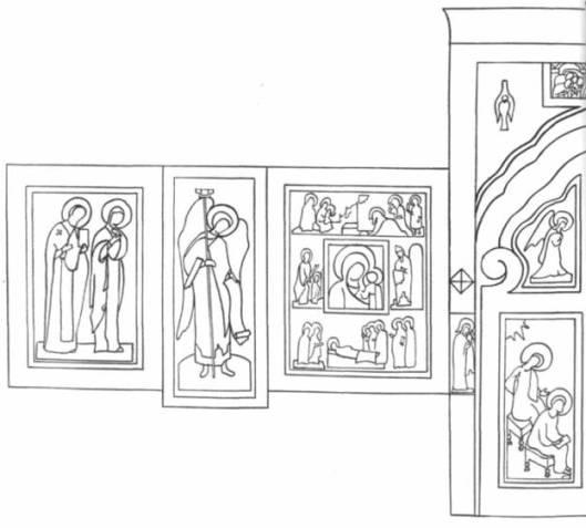 Схема Пермского иконостаса