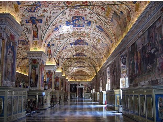 Путешествие в, ватикан, ознакомление с четырмя папскими)