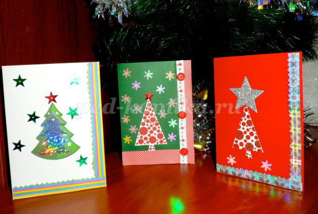 Как сделать английскую новогоднюю открытку своими руками