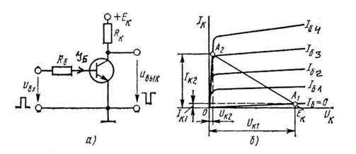 Схемы транзисторных ключей на биполярных транзисторах