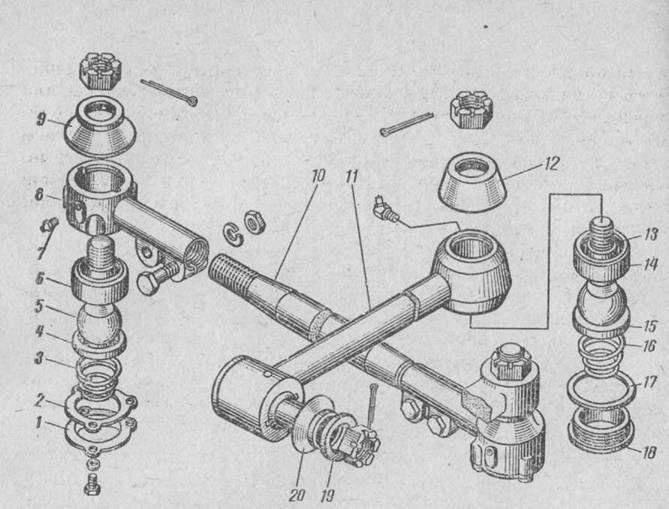 Рулевой механизм ВАЗ 2107: устройство и ремонт рулевых тяг