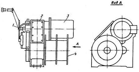 Схема шлюпочной лебёдки
