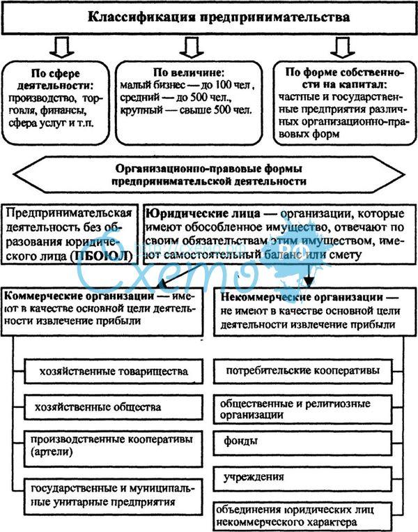 Составьте схему классификации