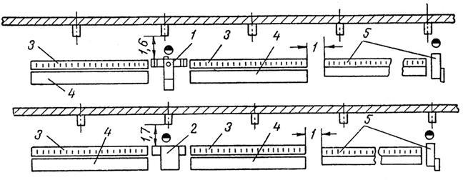 Схемы расположения кривошипных