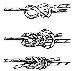 Узел срединный австрийский проводник Студопедия Для того чтобы получился правильный узел рис 62 в нужно растянуть концы веревки в разные стороны Контрольный узел не вяжется