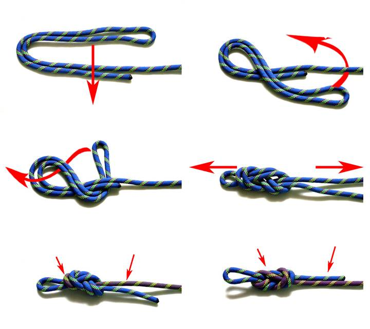 Как сделать прямую на веревке