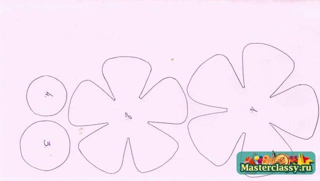 Шаблоны цветов из фетра своими руками