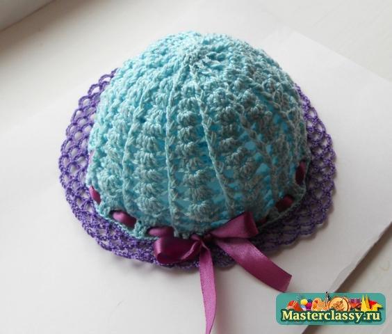 Мастер класс по вязанию шапочка для девочки крючком